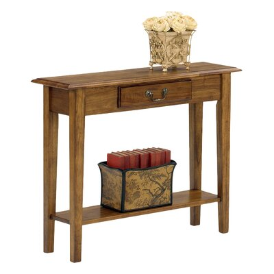 Revere Traditional Console Table Color: Medium Oak