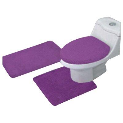 Arata 3 Piece Bath Mat Set Color: Purple