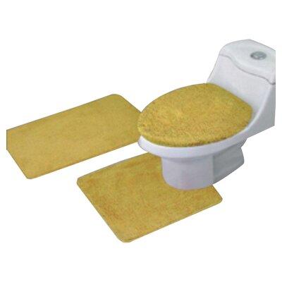 Arata 3 Piece Bath Mat Set Color: Gold