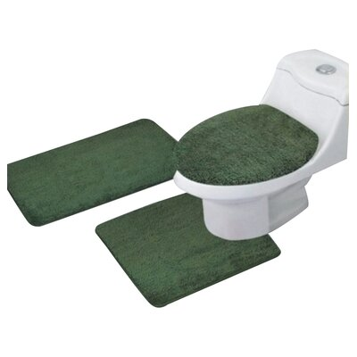 Arata 3 Piece Bath Mat Set Color: Olive