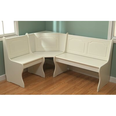 Delano Corner Bench Color: Antique White