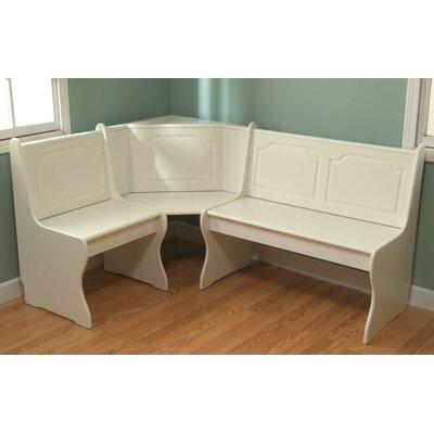 Delano Corner Bench Color: Antique White