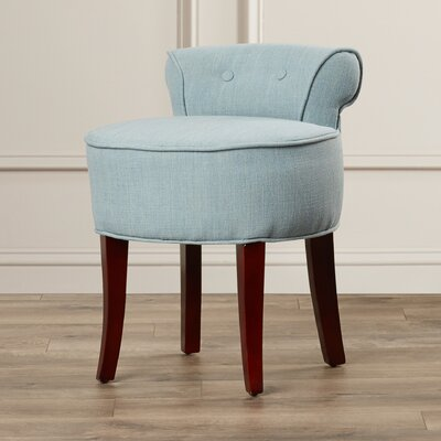 Chloe Vanity Stool Color: Silver Blue