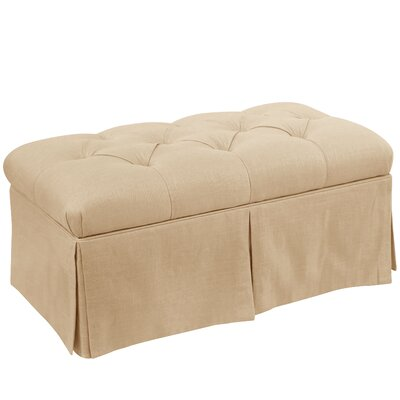 Craven Tufted Linen Skirted Storage Bench Color: Sandstone