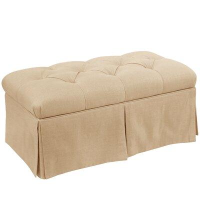 Craven Tufted Linen Skirted Storage Bench Color: Sandstone