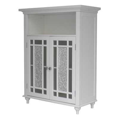 Caleb 2 Door Accent Cabinet Color: White