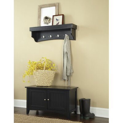 Bel Air 2 Piece Hall Tree Coat Hook and Cabinet Set Color: Charcoal