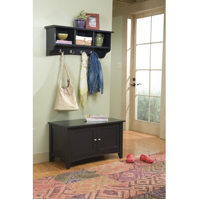 Bel Air Storage Hall Tree Finish: Charcoal Grey