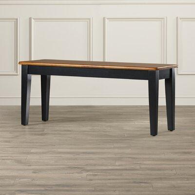 Windham Wood Bench Color: Black and Oak