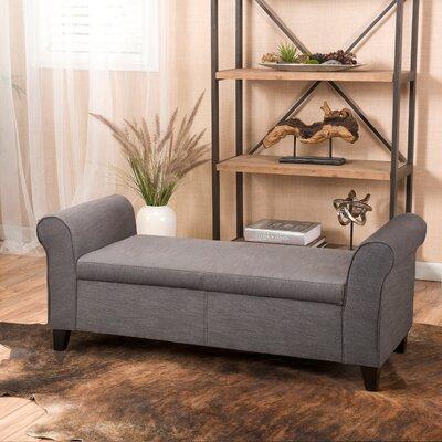 Varian Upholstered Storage Bench Upholstery: Gray