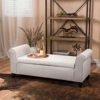 Varian Upholstered Storage Bench Upholstery: Light Gray