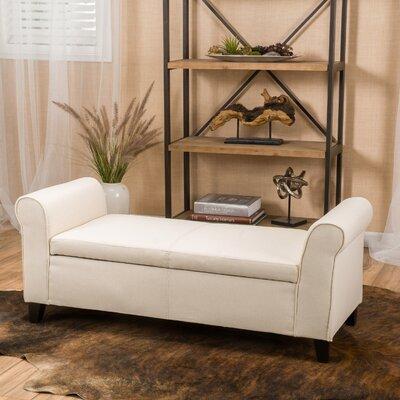 Varian Upholstered Storage Bench Upholstery: Beige