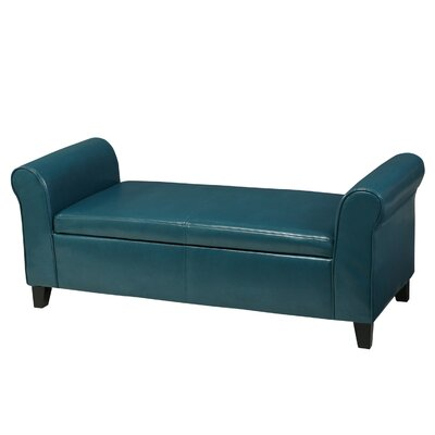 Varian Upholstered Storage Bench Upholstery Color: Teal