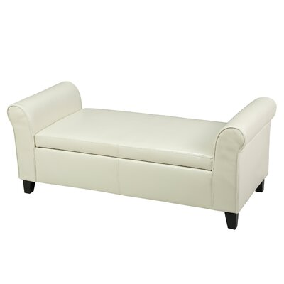 Varian Upholstered Storage Bench Upholstery Color: Ivory