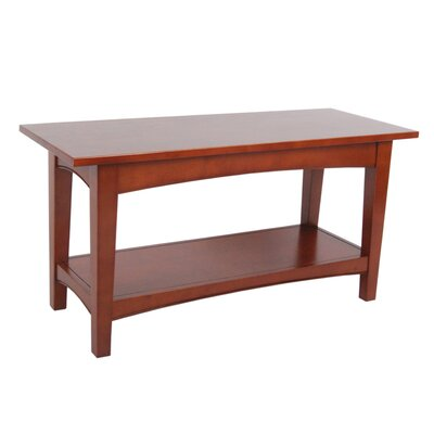 Bel Air Wood Storage Bench Color: Cherry