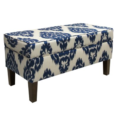 Thurston Upholstered Storage Bench Color: Diamonds Blue