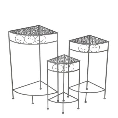 Sartin 3 Piece Corner Plant Stand