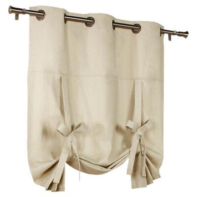 Hopedale Semi-Sheer Curtain Panel Color: Natural
