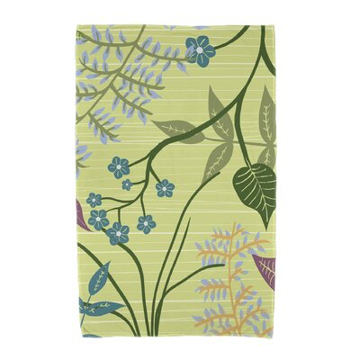 Orchard Lane Botanical Beach Towel Color: Green