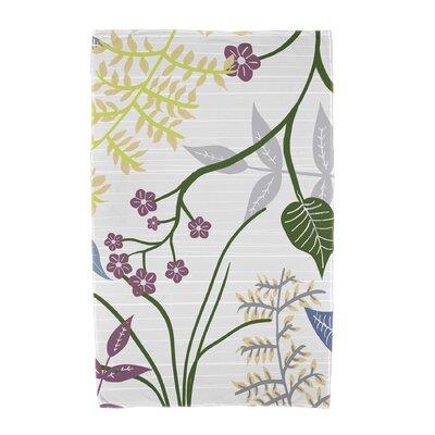 Orchard Lane Botanical Beach Towel Color: Gray