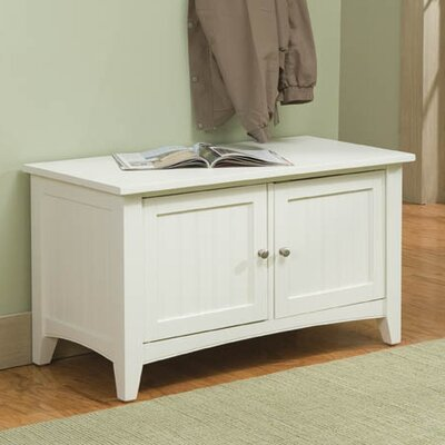 Bel Air Wood Storage Bench Color: Ivory