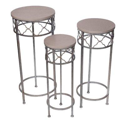 Remsen 3 Piece Pedestal Plant Stand Set
