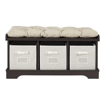 Liller Wood Storage Bench Color: Espresso