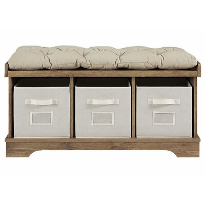 Liller Wood Storage Bench Color: Barnwood