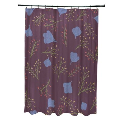 Orchard Lane Polyester Spring Blooms Floral Shower Curtain Color: Purple