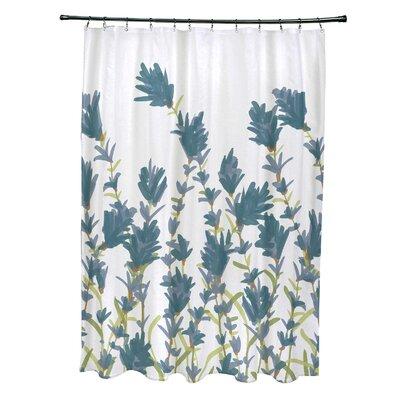 Orchard Lane Polyester Lavender Floral Shower Curtain Color: Blue