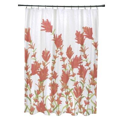 Orchard Lane Polyester Lavender Floral Shower Curtain Color: Coral