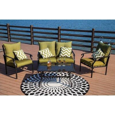 Gustavson 4 Piece Sofa Set with Cushions
