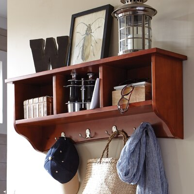 Bel Air 8 Hook Storage Shelf Color: Cherry
