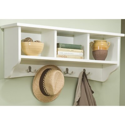 Bel Air 8 Hook Storage Shelf Color: Ivory