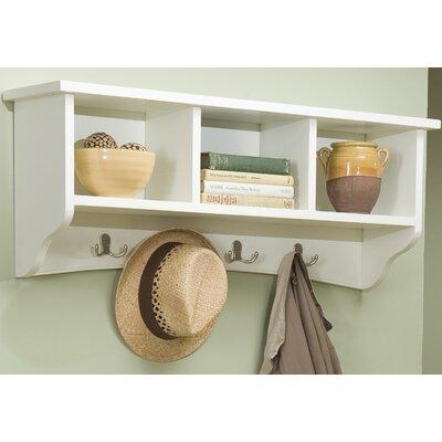Bel Air 8 Hook Storage Shelf Color: Ivory