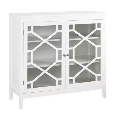 Friedlander 2 Door Large Accent Cabinet Color: White