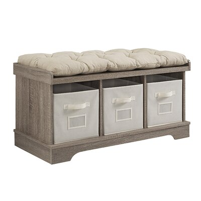 Liller Wood Storage Bench Color: Ash Gray