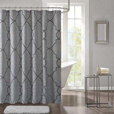 Birch Lane Shower Curtain Color: Blue/Black