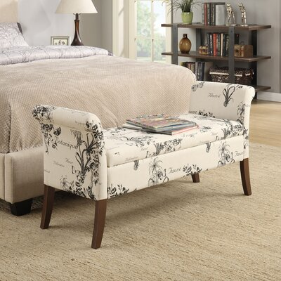 Suzanne Upholstered Storage Bench Upholstery Color: Dark Brown