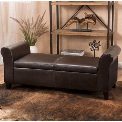 Varian Upholstered Storage Bench Upholstery Color: Brown