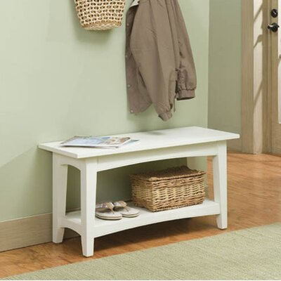 Bel Air Wood Storage Bench Color: Ivory