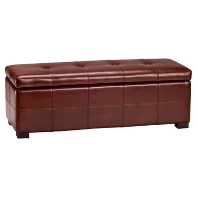Catherine Faux Leather Storage Bench Color: Cordovan