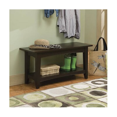 Bel Air Wood Storage Bench Color: Chocolate