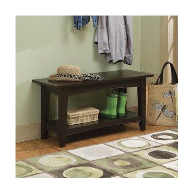Bel Air Wood Storage Bench Color: Chocolate