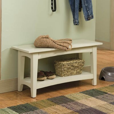 Bel Air Wood Storage Bench Color: Sand