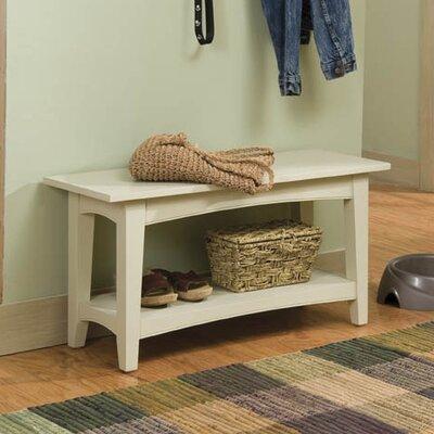Bel Air Wood Storage Bench Color: Sand