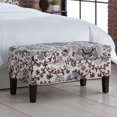 Thurston Upholstered Storage Bench Color: Silsila Rhinestone