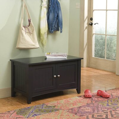 Bel Air Wood Storage Bench Color: Charcoal