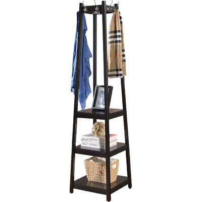Clark Storage Shelve Coat Rack Finish: Black