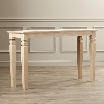 Gaskins Console Table Color: Unfinished